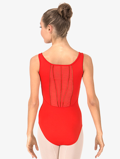 Adult Pleated Panel Back Tank Leotard - Style No MJ7192x