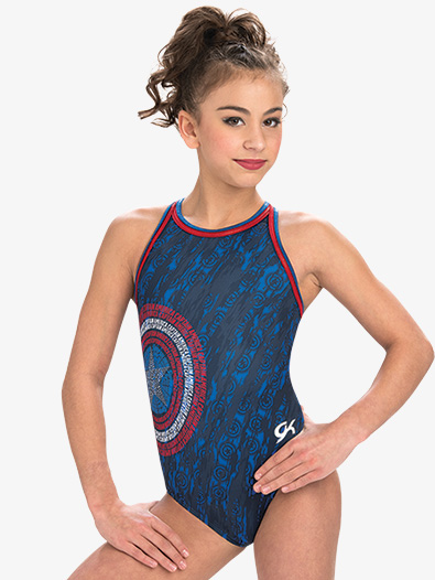 Girls Marvel American Shield Leotard - Style No MV024C