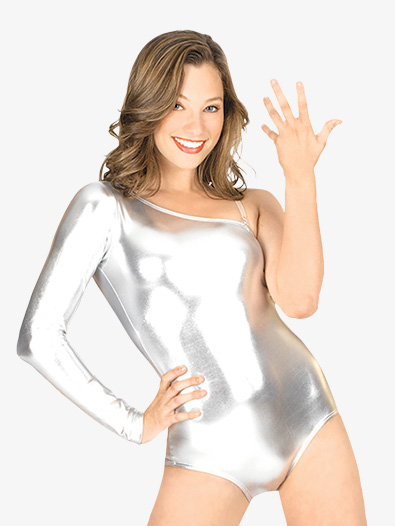 Adult One Shoulder Metallic Leotard - Style No N7065