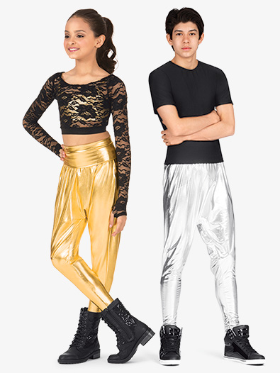 Girls Metallic Harem Pants - Style No N7227C