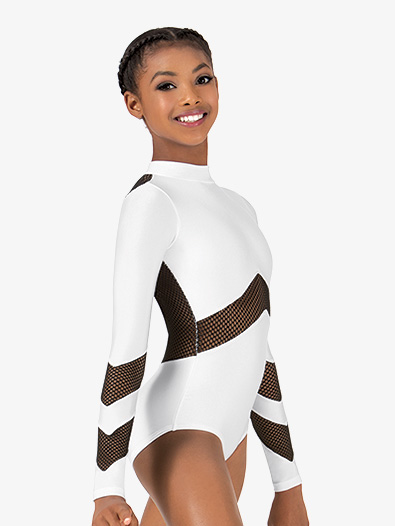Girls Mesh Long Sleeve Leotard - Style No N7228C