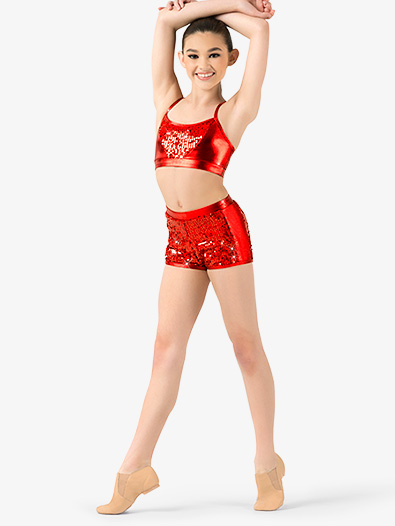 Girls Sequin Shorts - Style No N7306C