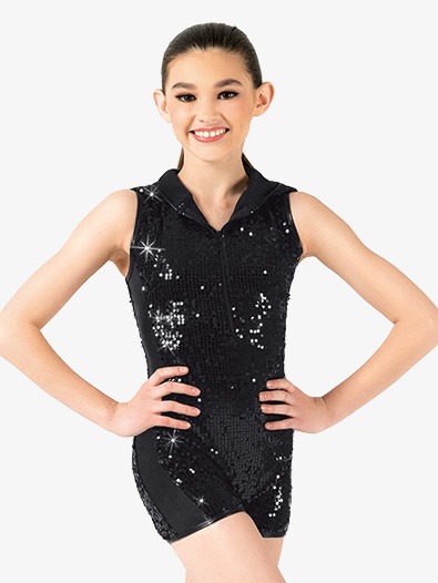 Girls Sequin Shorty Unitard - Style No N7315C