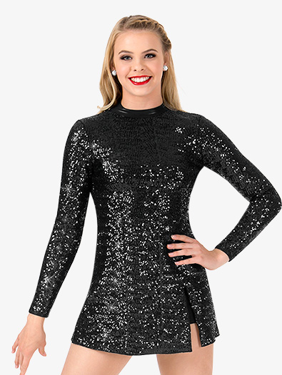 57abc531090 Womens Sequin Long Sleeve Performance Dress - Style No N7385
