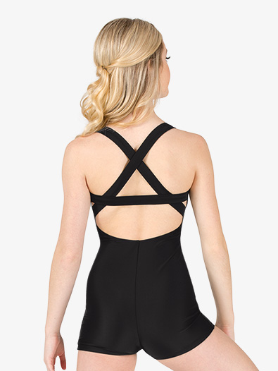 Womens X-Back Tank Shorty Unitard - Style No N7768