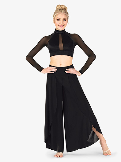 Womens Front Slit Petal Lyrical Pants - Style No N7785