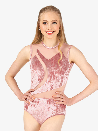Womens Performance Crushed Velvet Tank Leotard - Style No N7788