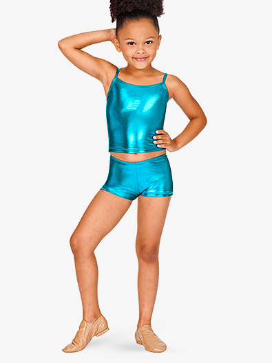 Child Metallic Dance Shorts - Style No N8392C