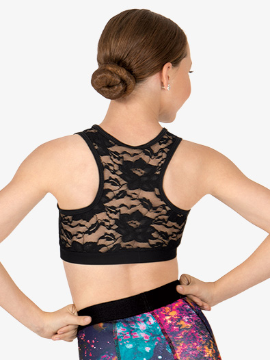 Child Lace Panel Racerback Bra Top - Style No N8674C