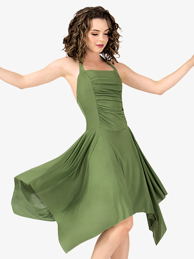 Adult Rouched Front Halter Dress - Style No N8780