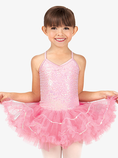 Child and Toddler Camisole Sequin Tutu Dress - Style No N8858Cx