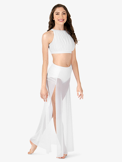 Adult Gathered Long Mesh Lyrical Skirt - Style No N8909
