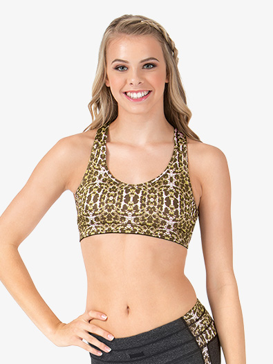 Adult Leopard Racerback Sports Bra Top - Style No NA120x