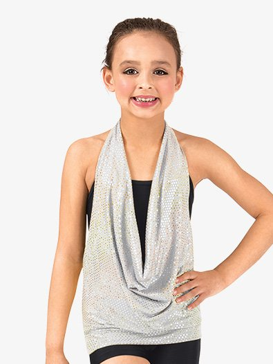 Child Drapey Front Halter Top - Style No NF8458C