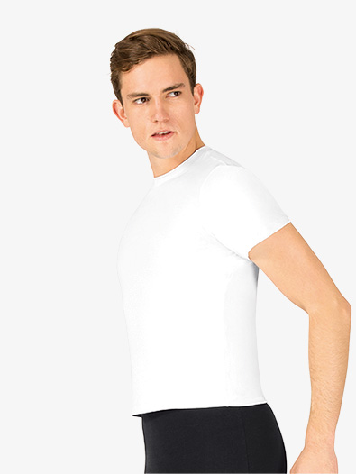 Mens Microfiber Short Sleeve Dance Top - Style No P322M