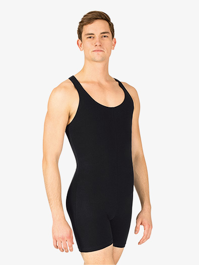 Mens Cotton Tank Dance Shorty Unitard - Style No P65M