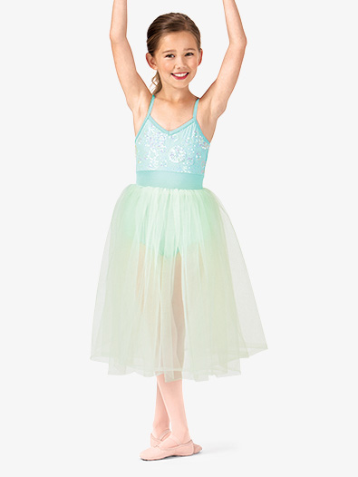 Child Romantic Sequin Camisole Tutu Costume Dress - Style No PB2001C
