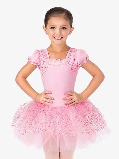 d1e6e8dc1f73 Mock Wrap Puff Sleeve Tutu Dress - Ballet Lyrical