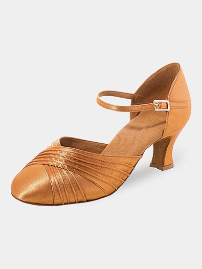 Womens Pleated Toe Satin Ballroom Dance Shoes - Style No R346