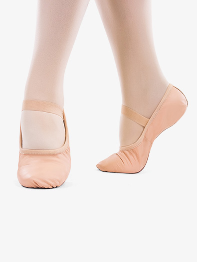 Womens ''Bella'' Premium Leather Full Sole Ballet Shoes - Style No SD69L