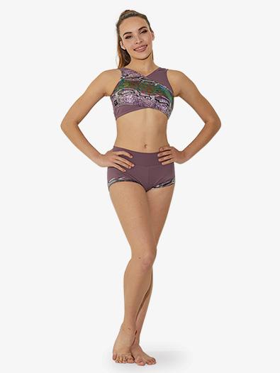 Girls Metallic Snakeskin Dance Shorts - Style No SS6660C