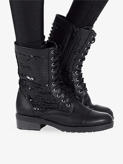 Combat Boot Shoes Double Platinum Swagc