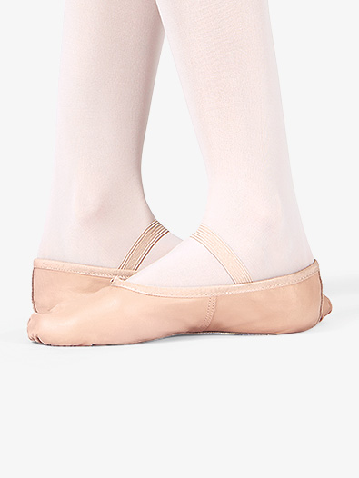 Child Economy Leather Full Sole Ballet Shoes - Style No T1000C