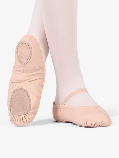 Adult Spandex Arch Leather Split-Sole Ballet Shoes - Style No T2800