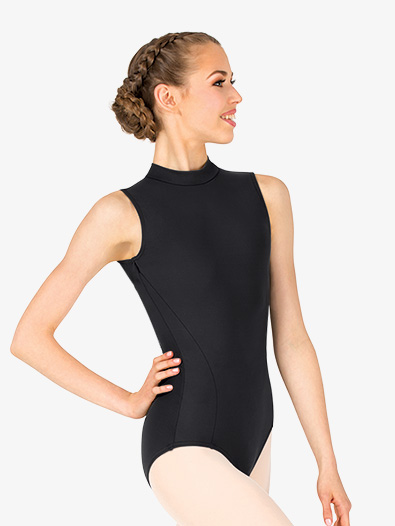 Womens Mock Neck Open Back Leotard - Style No TC0048W