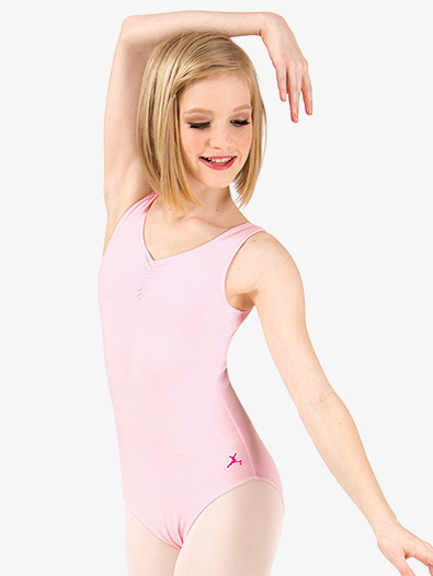 Child and Toddler Pinch Front Tank Leotard - Style No U6111CP