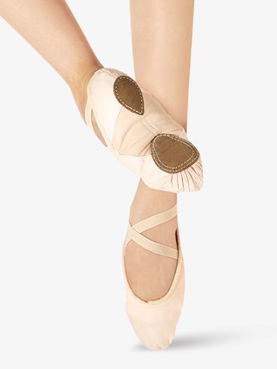Adult Canvas Split-Sole Ballet Shoes - Style No WM128