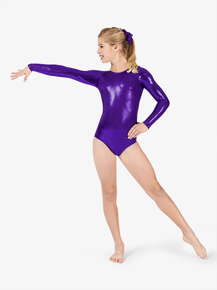 558ee15ae Long Sleeve Metallic Leotard - Gymnastics