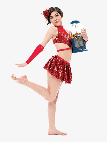 4d5ba71d7 Girls Womens Sequin 2-Piece Dance Costume Set