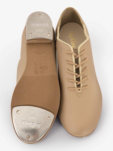So Danca Tap Shoes Tan Lace Ups