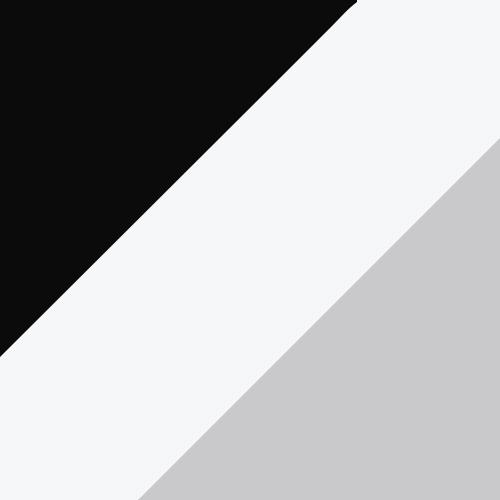Black/White/Metallic Silver