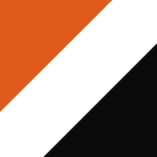 Orange/White/Black