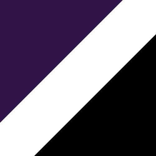 Purple/White/Black