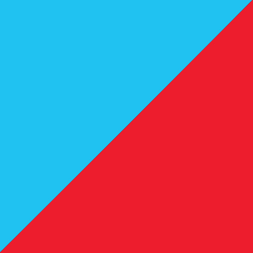 Turquoise/red