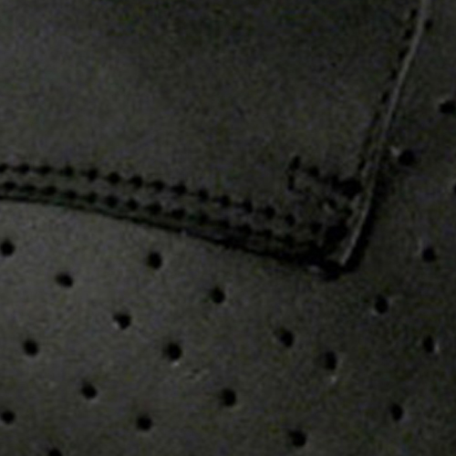 Black Perforated Leather